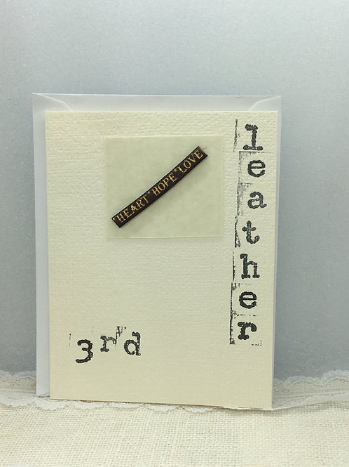 3rd - Leather Anniversary Card