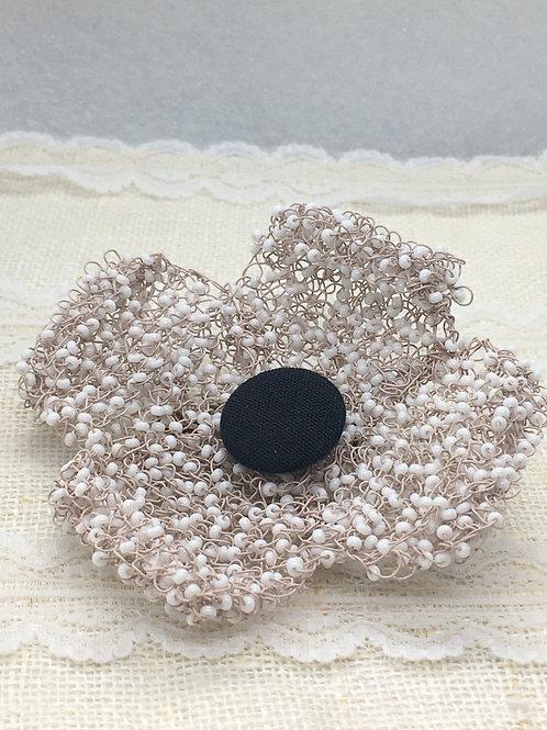 Knitted White Flower