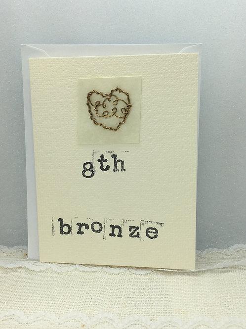 8th - Bronze Anniversary Card
