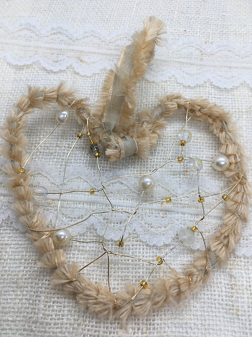Cream Heart Decoration