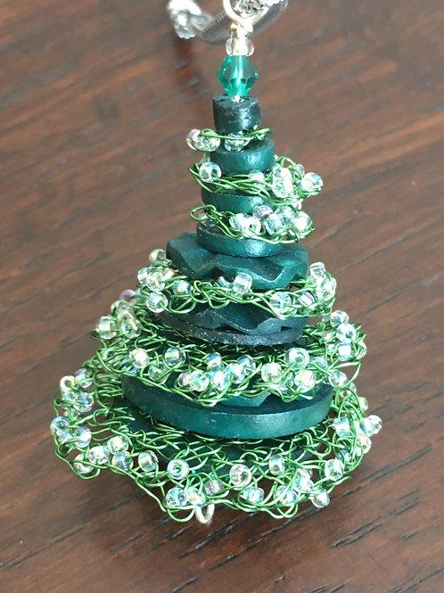 Crocheted Winter tree