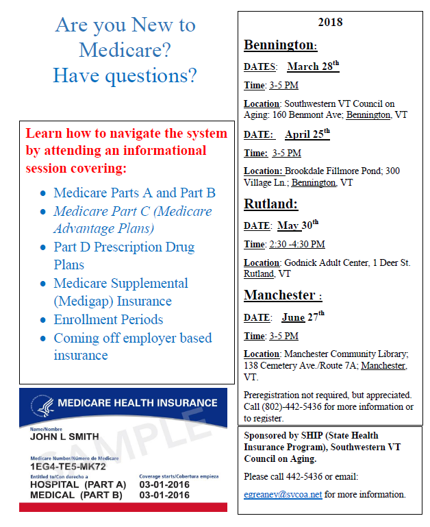 New to Medicare Classes