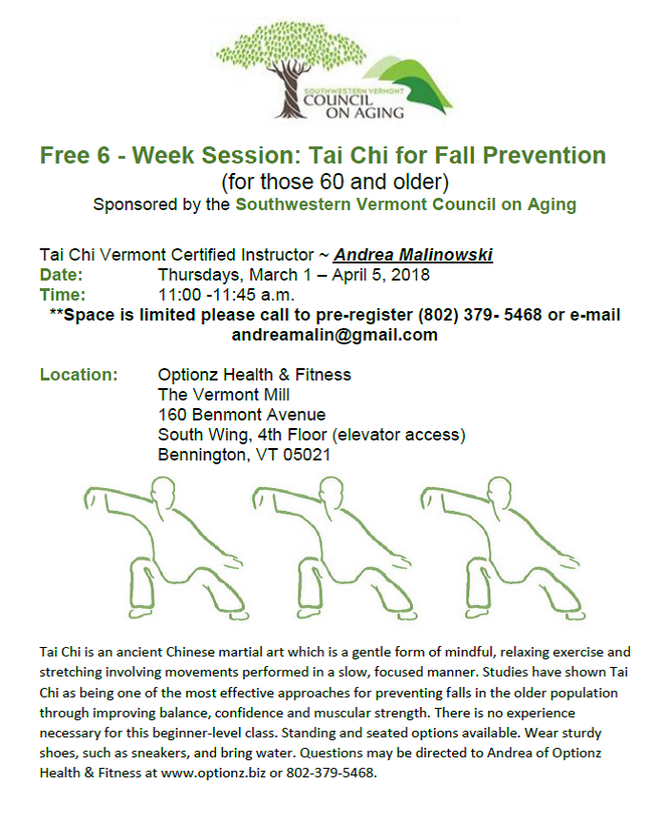 Free - Tai Chi for Fall Prevention (60 & Older)