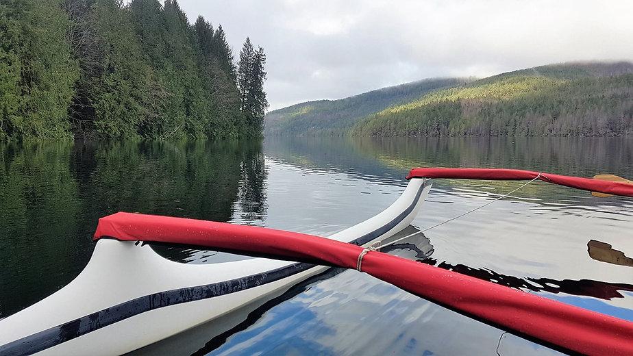 Outrigger Paddle on Sproat Lake, Port Alberni, Vancouver Island BC