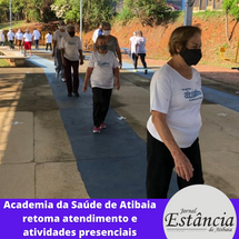 Academia da Saúde de Atibaia retoma atendimento e atividades presenciais