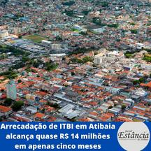 Arrecadação de ITBI em Atibaia alcança quase R$ 14 milhões em apenas cinco meses
