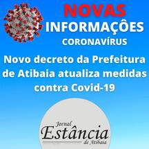 Novo decreto da Prefeitura de Atibaia atualiza medidas contra Covid-19