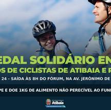 1º Pedal Solidário entre grupos de Atibaia e Região acontece no domingo (24)