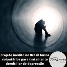 Projeto inédito no Brasil busca voluntários para tratamento domiciliar de depressão