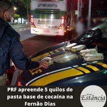 PRF apreende 5 quilos de pasta base de cocaína na Fernão Dias