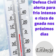 Defesa Civil alerta para frio intenso e risco de geada nos próximos dias