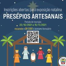 """Inscrições abertas para exposição natalina """"Presépios Artesanais"""""""
