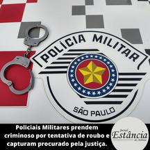 Policiais Militares prendem criminoso por tentativa de roubo e capturam procurado pela justiça.