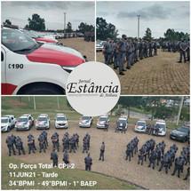 POLÍCIA MILITAR REALIZA OPERAÇÃO FORÇA TOTAL NA REGIÃOJORNAL ESTÂNCIA DE ATIBAIA