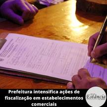 Prefeitura intensifica ações de fiscalização em estabelecimentos comerciais