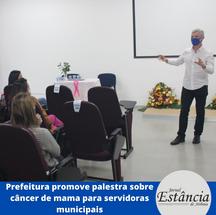 Prefeitura promove palestra sobre câncer de mama para servidoras municipais