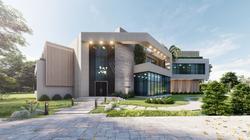 Abu Dhabi villa front façade