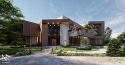 Abu Dhabi villa front façade 2