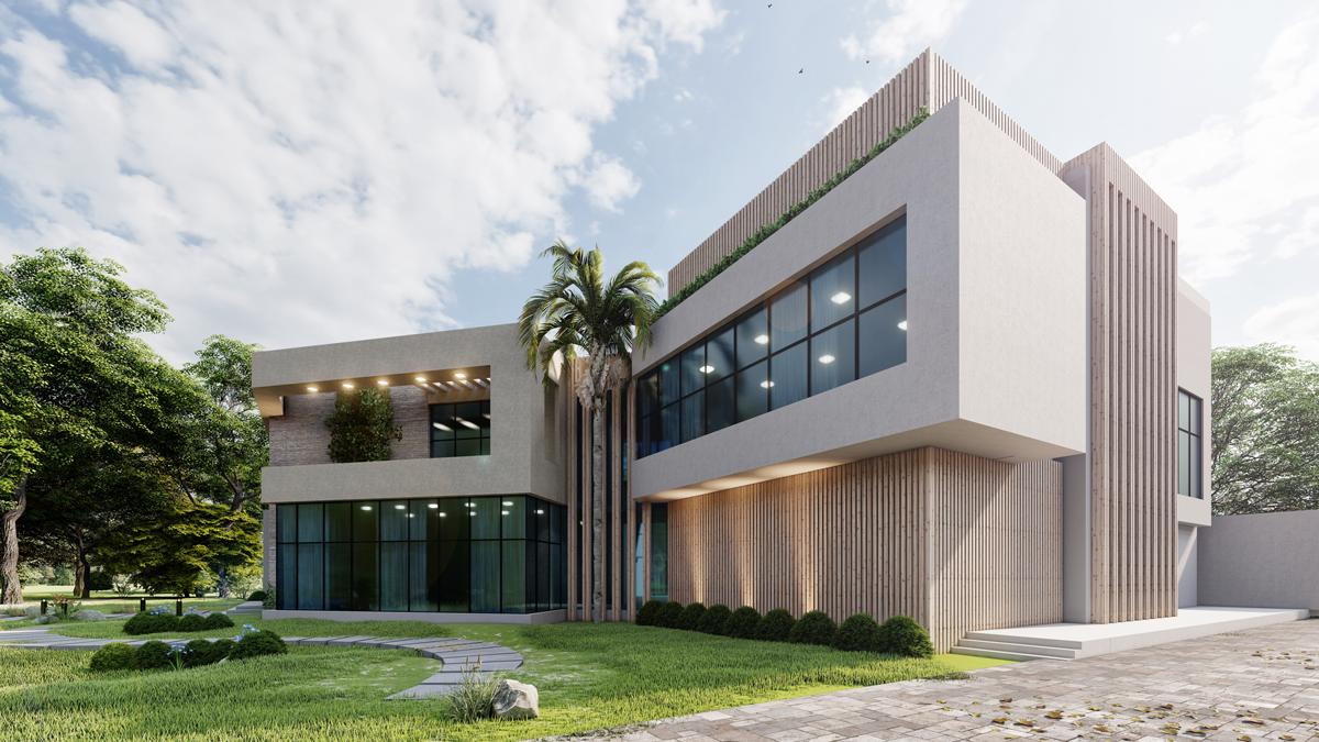 Abu Dhabi villa side façade