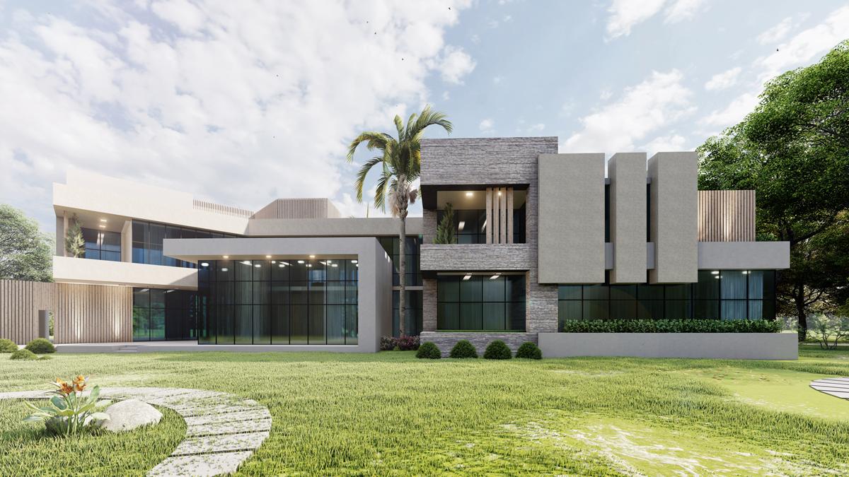 Abu Dhabi villa back façade
