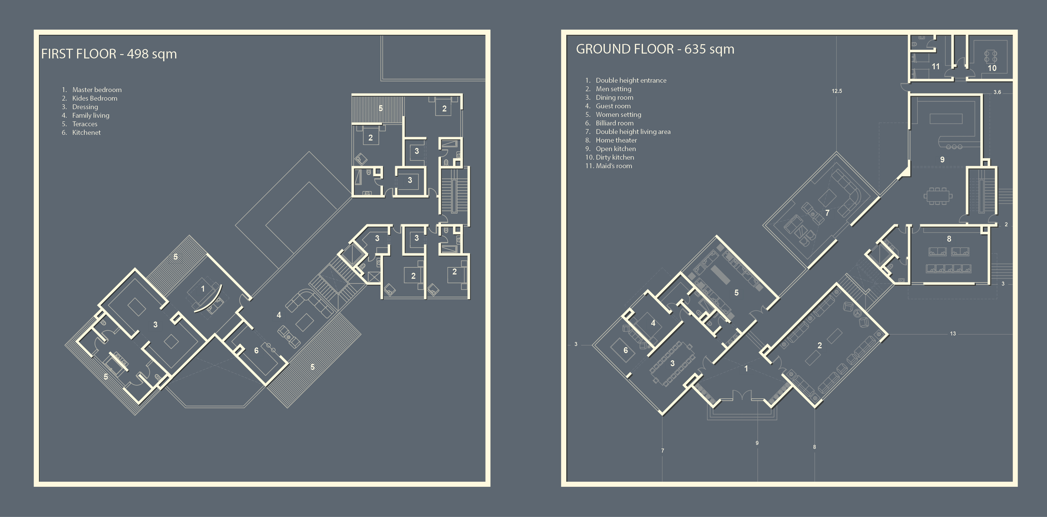 Dubai villa floor plans