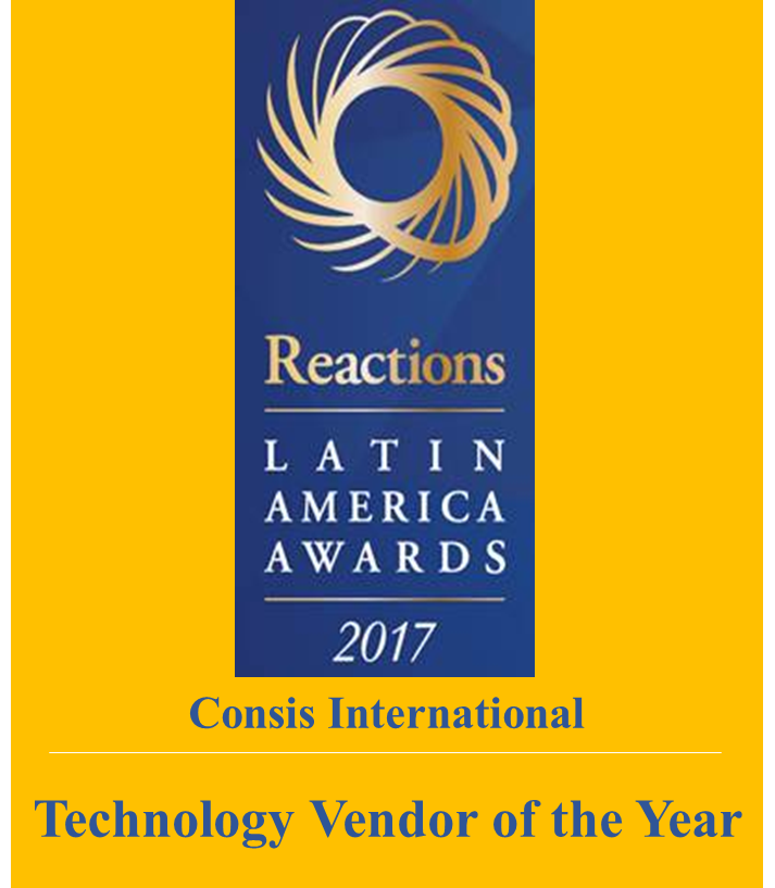 Consis International wins Reactions 2017 Technology Vendor of the Year.