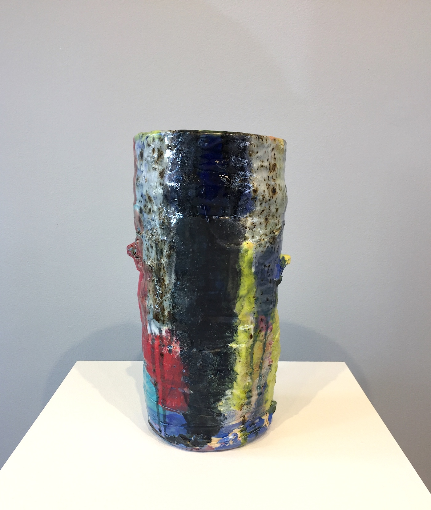 Stacked Vase (Blue & Yellow)