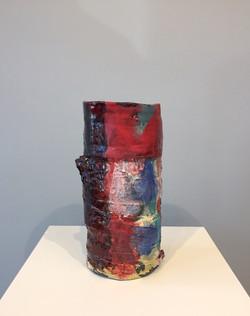 Stacked Vase (Red, Blue, & Black)
