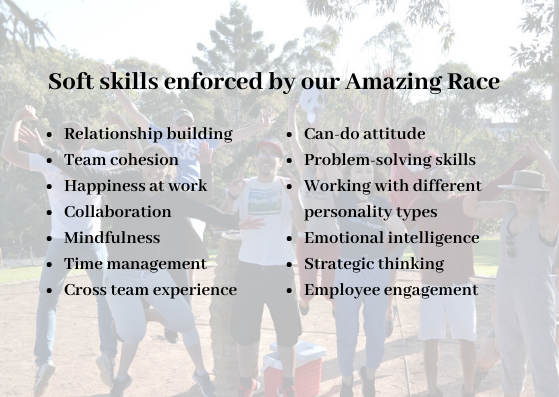 Soft skills enforced by our Amazing Race