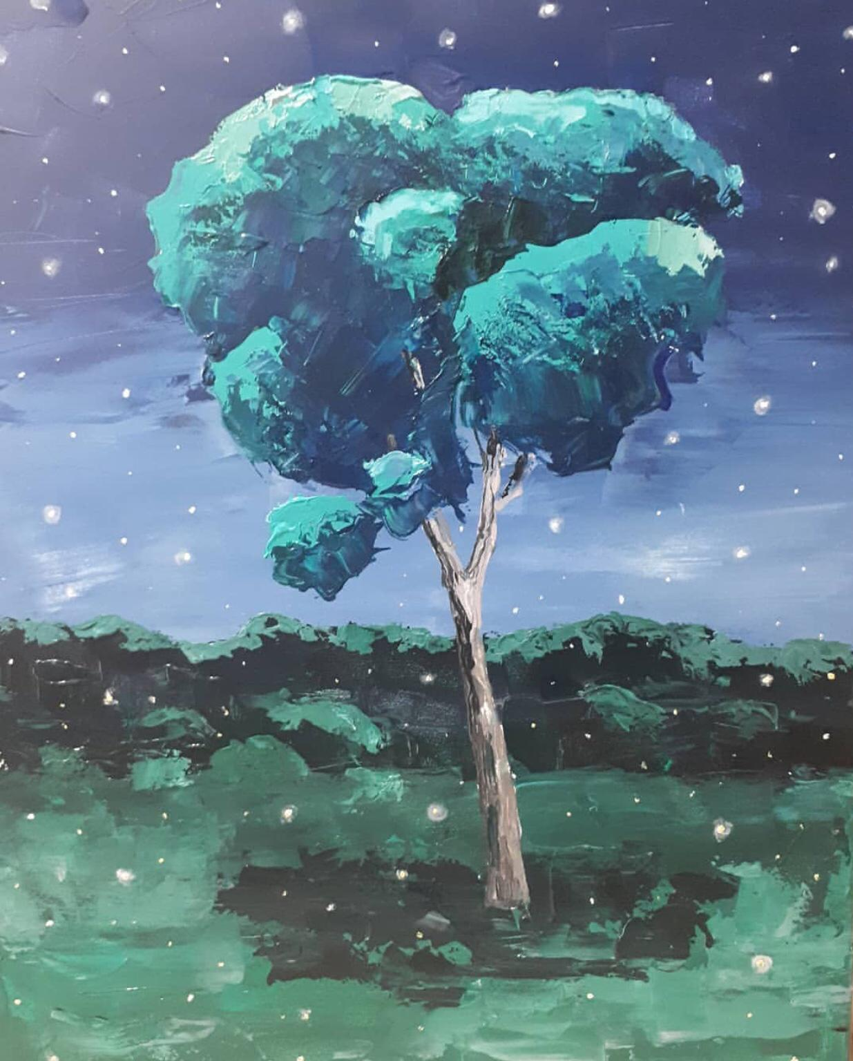 Ekaterina Khazina night tree