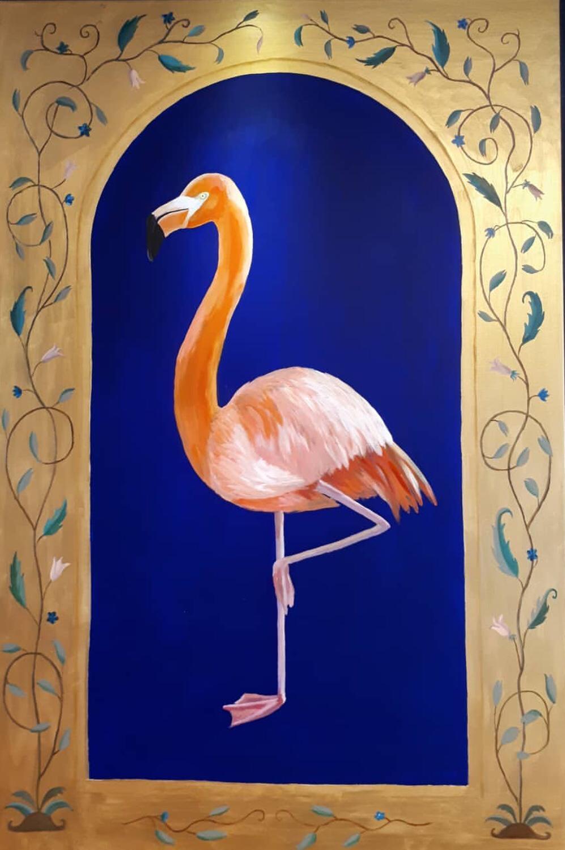Ekaterina Khazina flamingo gold