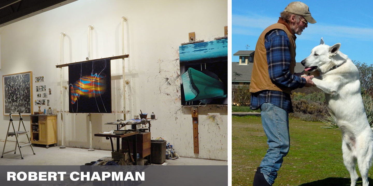 "Robert Chapman has been at work as an artist for decades… and decades.  The assistant to Willem de Kooning in the later years of his life, Chapman developed his own recognizable style of which he has become well known.  One of our most 'senior' artists, Robert has great perspective and has offered us a bit of wisdom… that art and creating is a ""relief from the relentlessness of our times"".  So, take a break, breathe, reflect and put a beautiful Robert Chapman up on your wall."