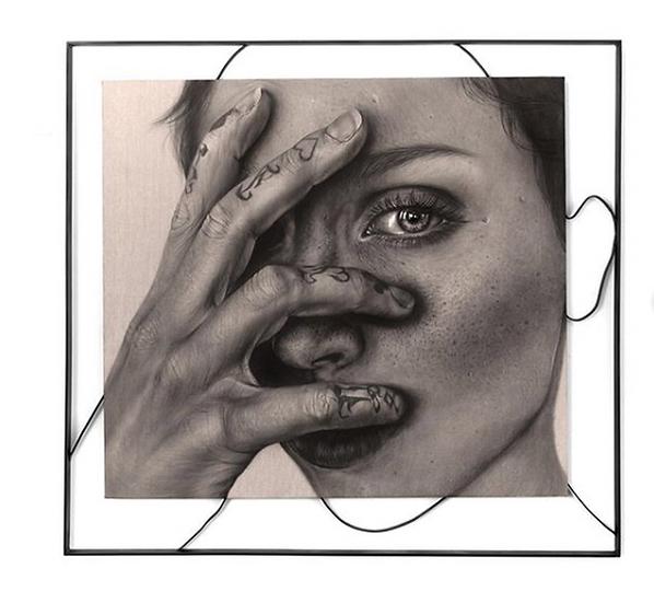 Self Portrait with Steel -original painting