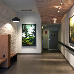 Lobby Interior | Mix-Use Building in Mountlake | Seattle, WA | Artwork by Erik Hall