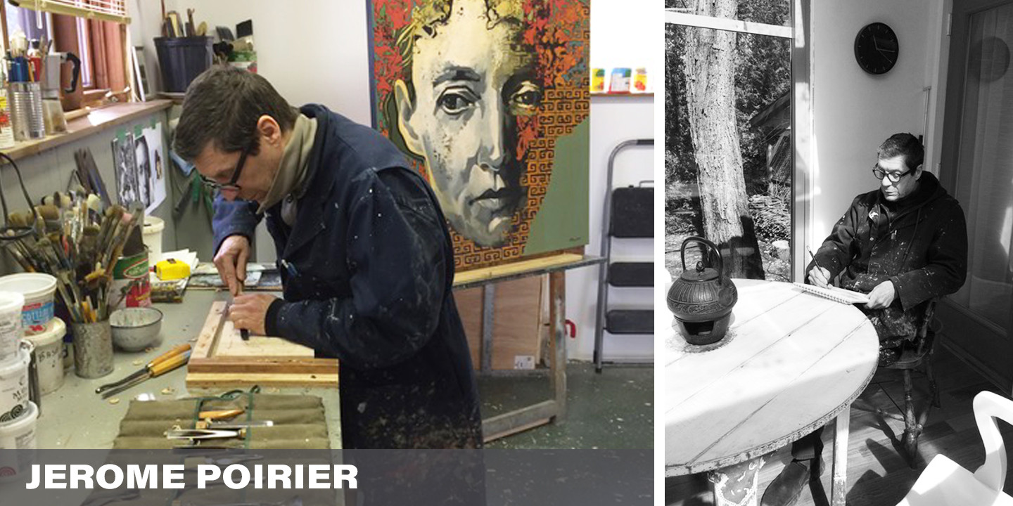 """Artists often use their artwork to make sense of the world around them.  In times like this it is vital.  Having time to slow down and focus ones attention, albeit government ordered, is a chance for Jérôme Poirier to create and in so doing, be better prepared for and perhaps even shape what will come next. """"I try to be positive and focus on spring that is coming soon and the nature around waking up from winter"""".  And why not, we can not change the past.   We can only be hopeful, determined and willing to shape our future."""