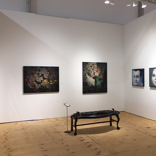 Work by Ellwood T. Risk, Amy Spassov and Francesca Sundsten (Bench by Erik Hall)