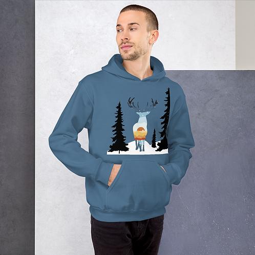 Sweatshirt Unisex Hoodie - Cerf