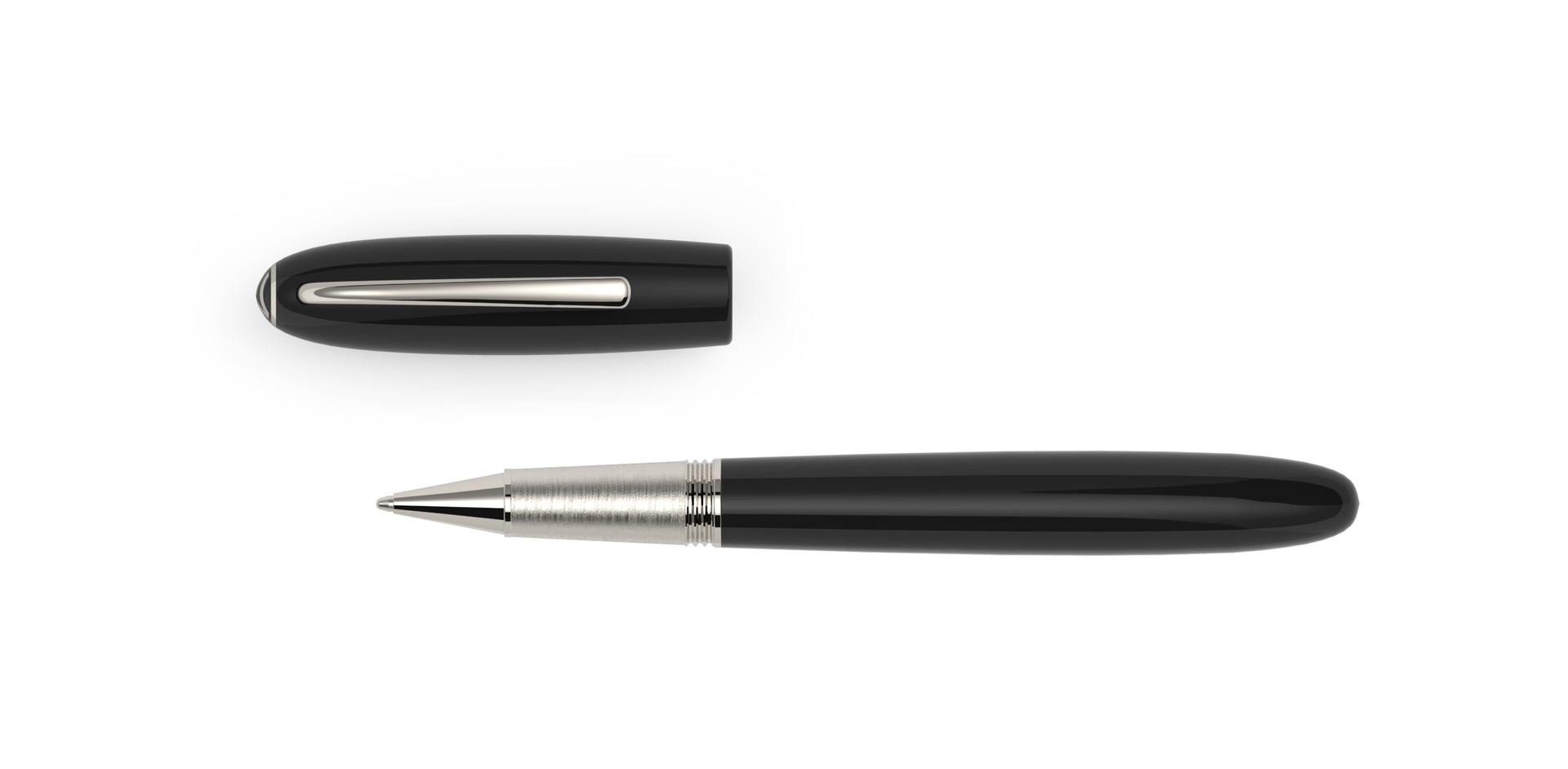 platinum plated fittings high glossy polished ebonite  1.275,- €
