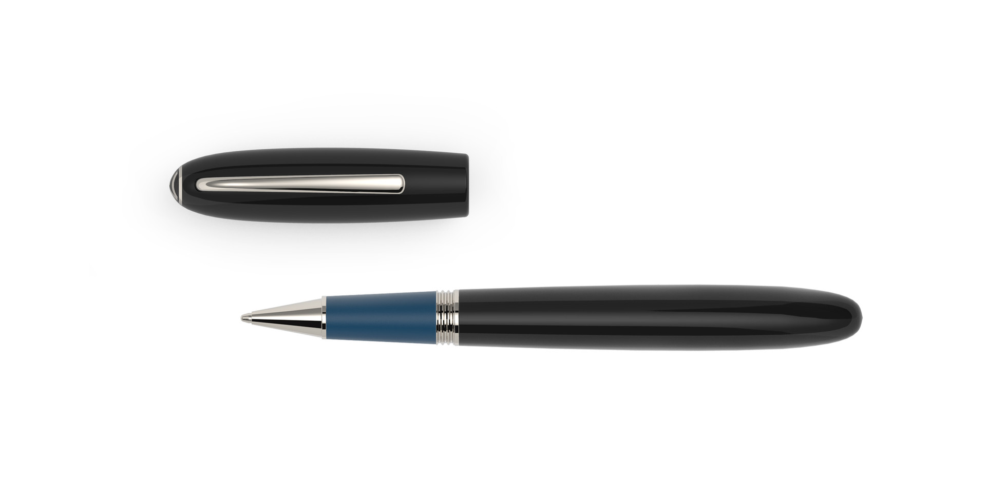 platinum plated fittings black and blue ebonite  1.275,- €