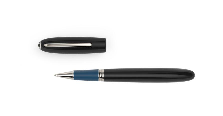 platinierte Metallelemente schwarzes und blaues Ebonit  1.275,- €