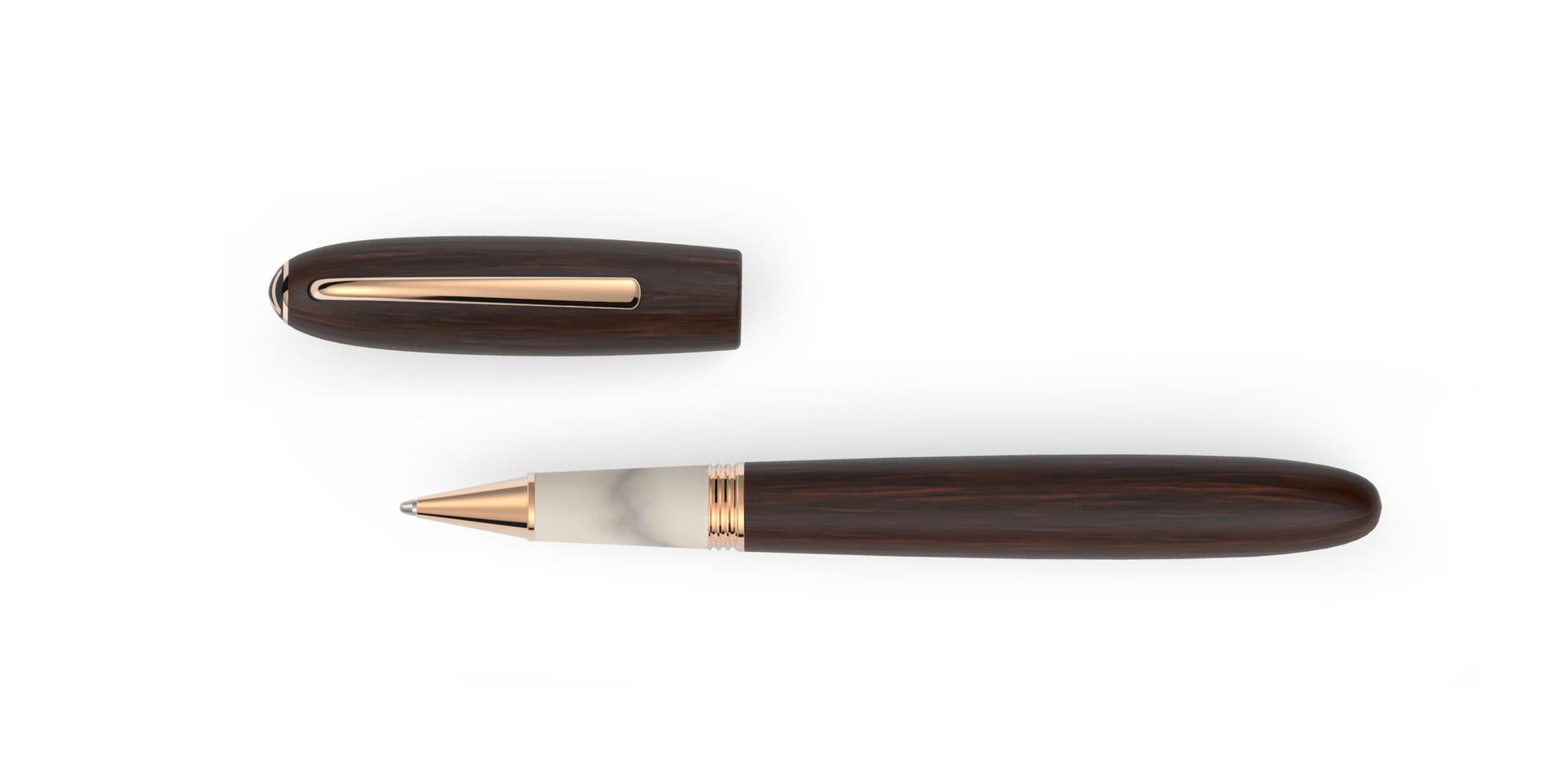 rosé verg. Metallelemente satiniertes Grenadill Holz Horn  1.345,- €