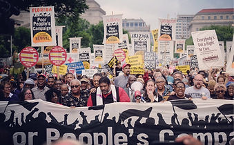 Marchers from the Poor People's Campaign