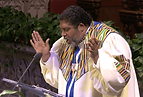 Reverend Barber delivers a sermon.