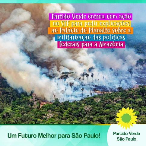 Partido Verde entrou com ação no STF