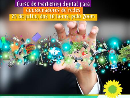 Partido Verde da Cidade de São Paulo realizará curso de marketing digital para coordenadores de rede