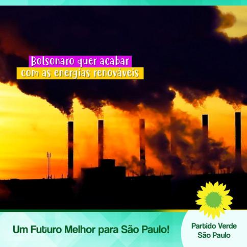 Bolsonaro quer acabar com as energias renováveis