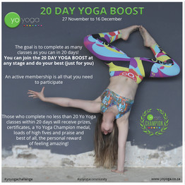 20 Day Yoga Boost Challenge