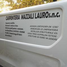 Etichette prespaziate per furgone