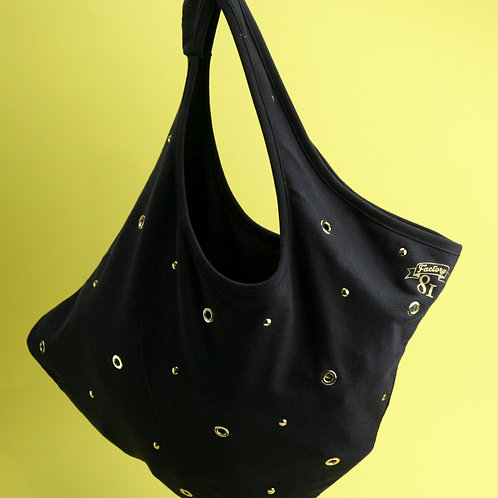 Shopper borchie oro