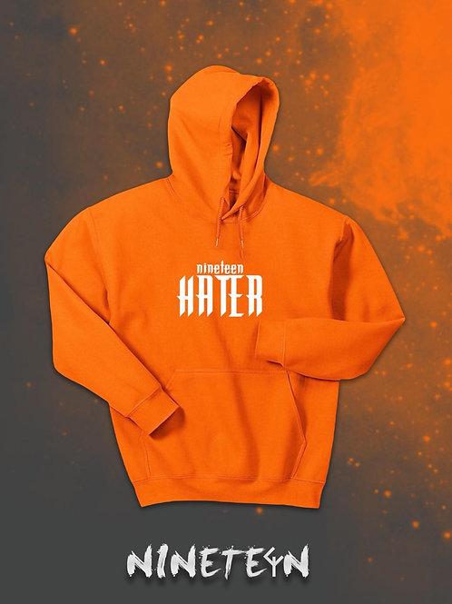 Felpa con cappuccio Arancione Nineteen Hater personalizzata